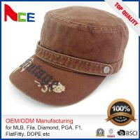 China Custom Embroidered Military Caps , Military Boonie Cap Autumn Winter Fitted wholesale