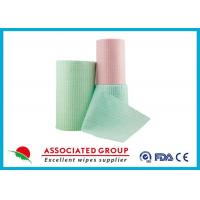 Green Spunlace Nonwoven Fabric / non woven cloth 100% biodegradable