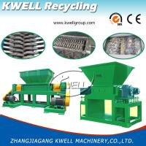 China Double Shaft Shredding Machine, Waste Plastic Jumbo/Woven Bag Shredder, Waste Recycling Shredding System on sale