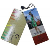 China Shining Coated 4 Colors Printing Clothing Hang Tags For Leather Bags on sale