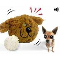 China Interactive Plush Dog Squeaky Toy Electronic Motion Ball Nontoxic Plush ABS Material wholesale