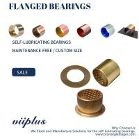 China CuSn8 Bronze Sleeve Flanged Bearings Diamond Indentations Or Stamped With Oil Grooves wholesale