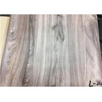 China Wood Textured Pattern PVC Laminated Plastic Film Easy To Clean For Wall Panel wholesale