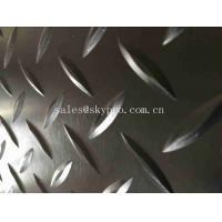 China Heavy Weight Diamond Thread Rubber Mats Solid Safety Embossed Top IR Butyl Neoprene Fabric wholesale