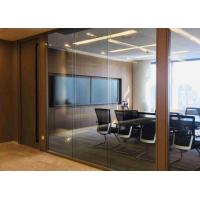 China Tempered Demountable Glass Partitions Non Loadbearing Stain Anodized wholesale