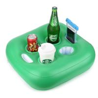 China Green PVC Floating Inflatable Drink Holder With 4 Holes / Floating Beer Holder on sale