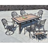 China Leisure  Garden Cast Aluminum 6 Seater Outdoor Furniture Table And Chair Set Garden Furniture wholesale