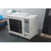 China Custom Made White Horizontal Flammability Tester For Accordance Cable wholesale