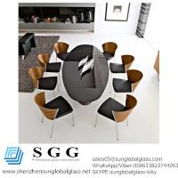 China CE&SGS Cetificated grade A high quality back painted table top glass wholesale