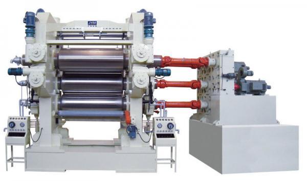 Quality フィルムの旗のための柔らかいポリ塩化ビニールのカレンダー機械使用4ロール1800mm - 4000mmの幅 for sale