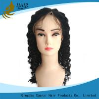 China Soft Silky Full Lace Human Hair Wigs Kinky Curly With Natural Baby Hair wholesale