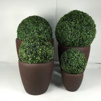 China 2019 hot selling high quality large fiber clay round planter pots for garden decoration on sale