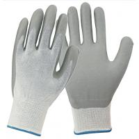 China Soft Nitrile Coated Work Gloves Jersey Liner Resistant To Grease / Oils on sale