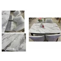 China Marble Surface Solid Pine Dining Table And Chairs Nordic Style Oil Resistant wholesale
