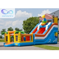 China 6.5m Beach Water Jumping 4 In 1 Inflatable Water Slides wholesale