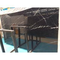 China Large Nero Marquina Marble Slab, Black and White Marble Stone Floor Tiles on sale
