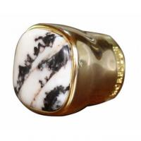 China Unique Design Gold color Metal Zamac Perfume Bottle caps cover with stone wholesale