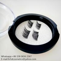 China 2017 top sell custom package magnet mink eyelashes no glue for makeup wholesale