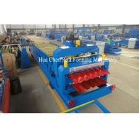 China 7.5Kw Hydraulic Power Tile and Roof Double Layer Cold Roll Forming Machine with CE wholesale