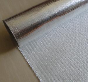 China Fire Retardant Aluminized Fiberglass Fabric ALFW600 With Strong Light Reflection wholesale