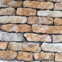 China Quartzite Random Loose Stacked Stone Brick Style Brown Color Skidproof wholesale