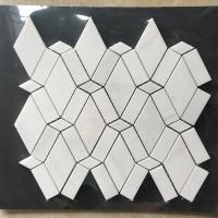 China White Diamond Dolomite Nature Stone Mosaic Tile For Kitchen Backsplash wholesale