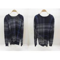 China 2014 Fashion Mens Wool Sweaters Scoop Neck Stripes Long Sleeve Pullover wholesale