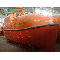 China LSA Marine Totally Enclosed Gravity Luffing Arm Davit Fire Retardant FRP Life Boat wholesale