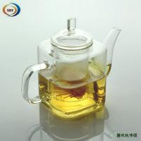 China 500ml square heat resistant teapots on sale