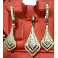 China micro setting silver jewelry set supplier wholesale