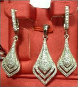 China micro setting silver jewelry set supplier wholesale