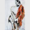 China Custom Oil Painting Modern Abstract Art Handmade Canvas Saxophone Room Decor wholesale