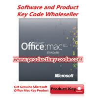 China Hot selling Microsoft Office Product Key Codes , Office for MAC 2011 Standard FPP ESD Key wholesale