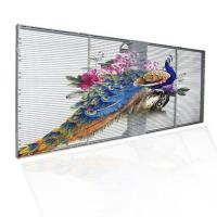 China Glass Advertising LED Display Screen High Transparency Acrylic Frame Support wholesale