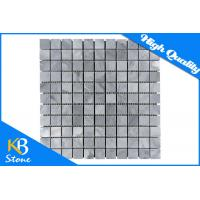 Polished Italy Grey Square Mosaic Wall Tiles Internal / External Marble Decorative Wall Tile