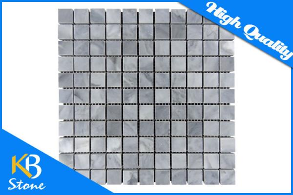 Quality Polished Italy Grey Square Mosaic Wall Tiles Internal / External Marble Decorative Wall Tile for sale