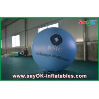 China 0.18mm 1.5m Blue PVC Outerdoor Inflatable Advertising Balloon With Logo Print For Event on sale