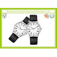 China 5 ATM Water Resistant Leather Strap Watch Stainless Steel Watch Back Genuine wholesale