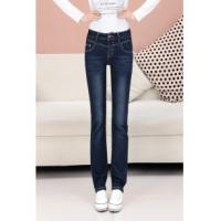 Buy cheap new mid-rise waist loose straight jeans china factory wholesales from wholesalers
