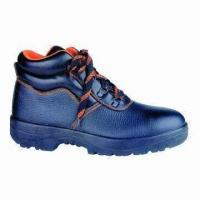 China 5-inch Working Safety Shoes with String, CE Mark, Buffalo Leather, PU Sole and Air Mesh Lining wholesale