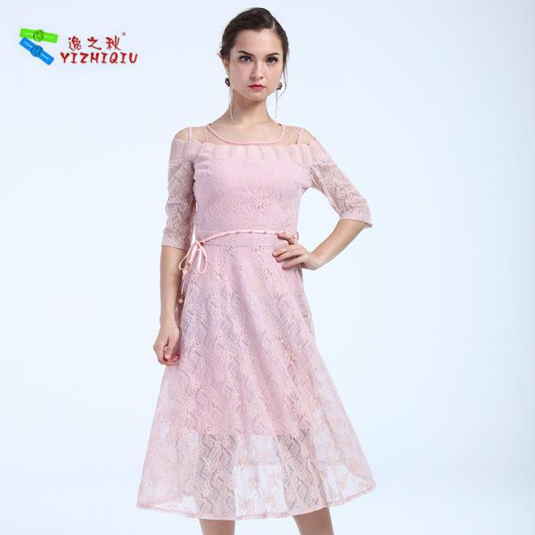 Quality YIZHIQIU Latest Maxi High Waist Long Lace Dresses for sale