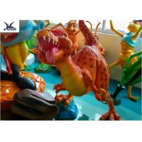 China Fiberglass Resin Cartoon Dinosaur Lawn Ornament For Educational School Display wholesale