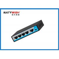 China Commercial 60W POE Ethernet Switch 4 Port 100 Meters Data Transmission Distance wholesale