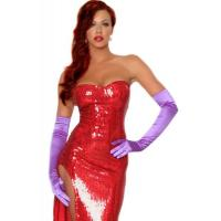 China Wholesale Hollywood Costumes Toon Wife Costume made by Sequin cloth in Red with XXS to XXXL wholesale