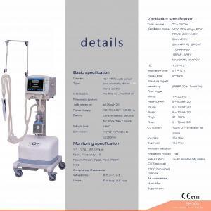China Ventilator /  ICU Mechanical Ventilator Machine Medical on sale