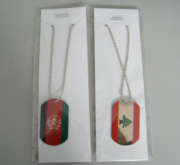 Quality flag dog tag, Africa flag dog tag, Country flag dog tag for sale