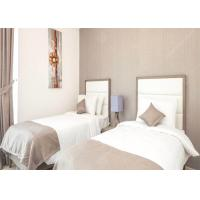 China Commercial Hotel White Bedroom Furniture Sets , Economic Modern Apartment Furniture on sale