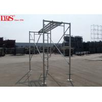 """Buy cheap Sturdy Steel Ladder Frame Scaffolding Zinc Plated For Mansonry 3'×3'6"""" from wholesalers"""