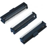 China Black Female Pin Headers  Double Low 60 Pins SMT With Cap  LCP Plastic wholesale