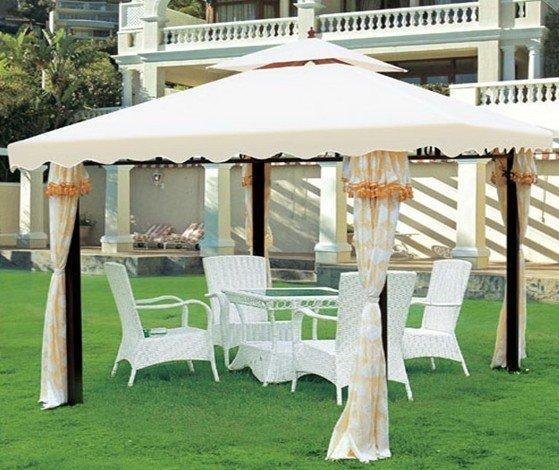gazebo jardim madeira:Outdoor Garden White House Gazebo Tent